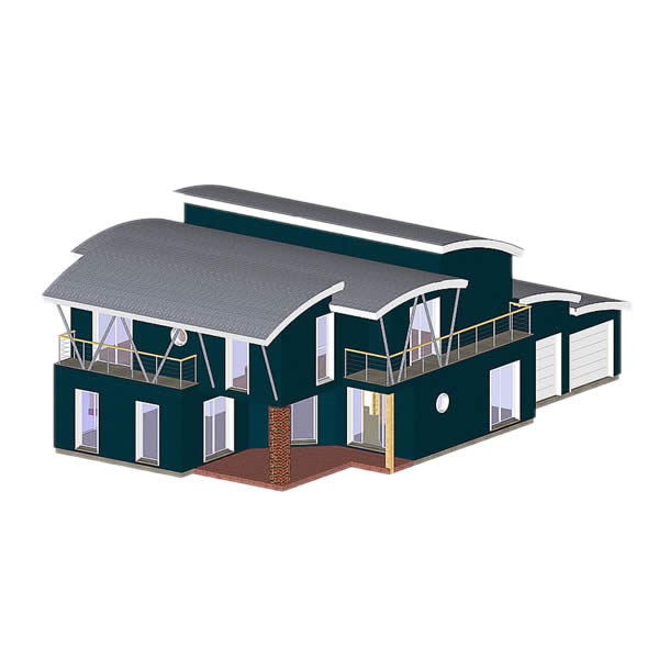 charpente toit arrondi maison individuelle