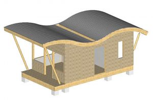 Maison bois charpente toit ondule