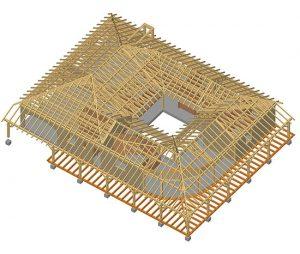 Maison bois avec patio