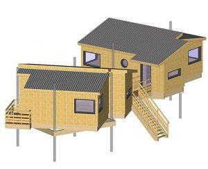 Maison pilotis bois